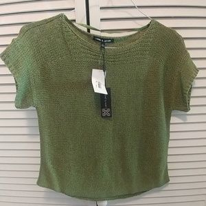 Cable and Gauge Green.Sweater Small